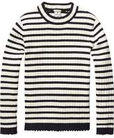 Scotch R'Belle Girl's Basic Rib Knit Pull with High Neck T-Shirt,116 (Herstellergröße: 6)
