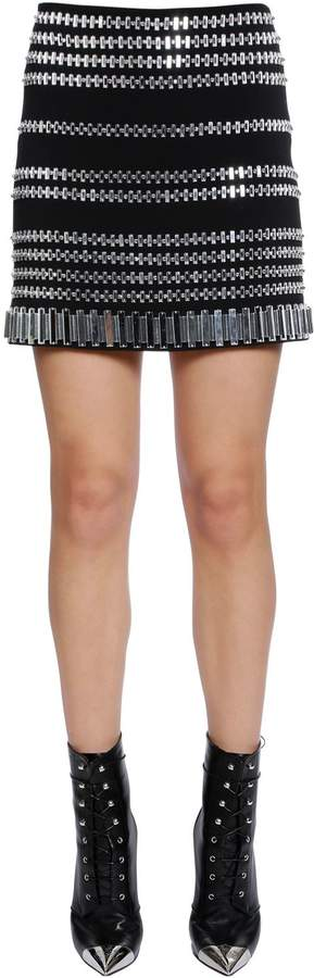 David Koma Embellished Cady Skirt
