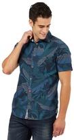 Mantaray Green Leaf Print Shirt