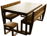 Lazy Boy 5 Piece Outdoor Table Set Variant: 6 Seater