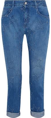 Stella McCartney The Skinny Boyfriend Cropped Distressed Mid-rise Slim-leg Jeans