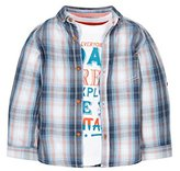 Mothercare Baby Boys' Check Set T-Shirt