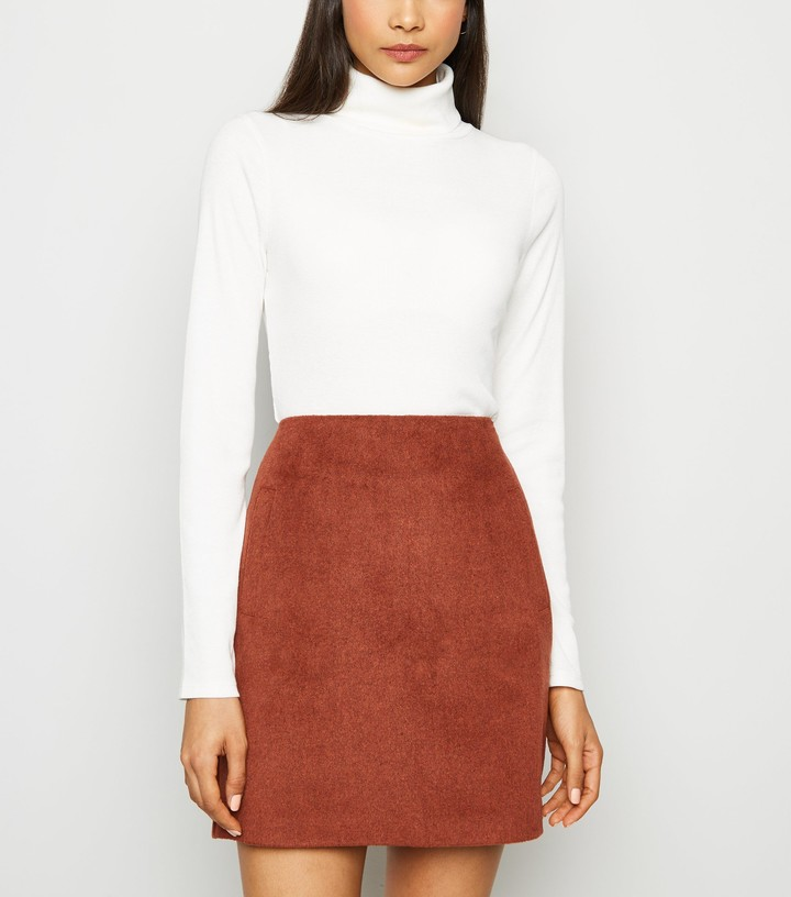 Thumbnail for your product : New Look Brushed Zip Mini Skirt