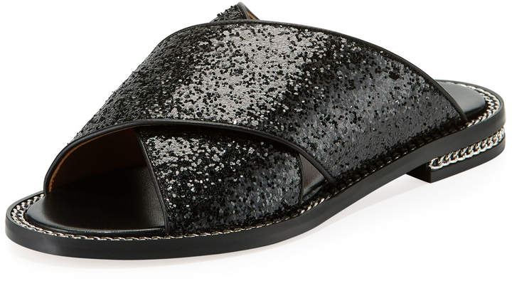Givenchy Chain-Trim Crisscross Flat Sandal