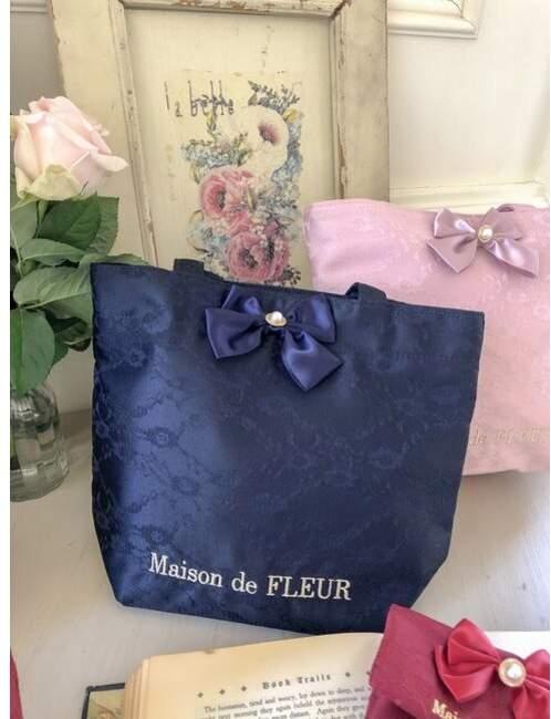 Maison de Fleur (メゾン ド フルール) - メゾンドフルール ダブルリボンレーストートバッグ
