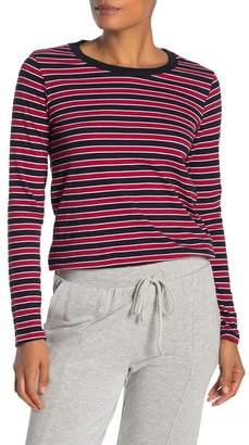 Velvet by Graham & Spencer Stripe Crew Neck Long Sleeve T-Shirt