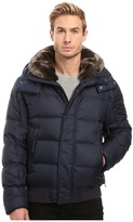 Andrew Marc Rockingham Down Bomber w/ Removable Faux Fur Collar & Hood