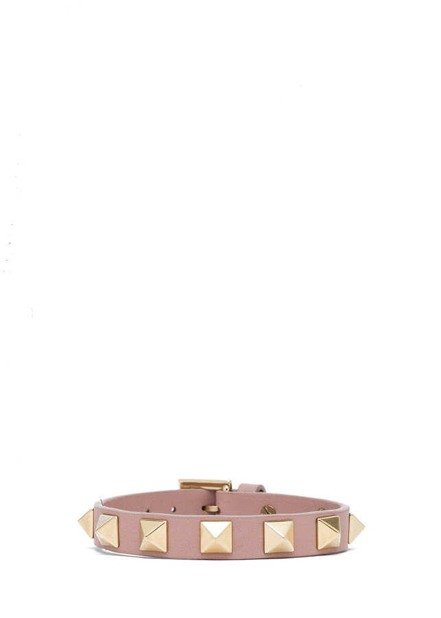 Valentino Rockstud Small Bracelet in Deep Green