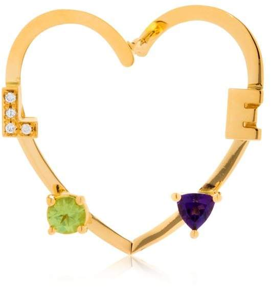 Delfina Delettrez Love Heart Shaped Mono Earring