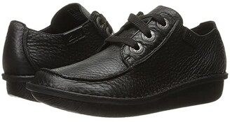 Clarks Funny Dream (Black Leather) Women's Lace up casual Shoes