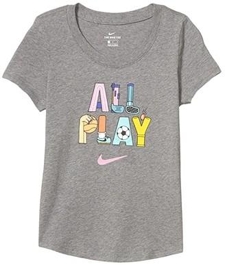 Nike Kids NSW Tee Scoop Playground (Little Kids/Big Kids) (Carbon Heather) Girl's T Shirt