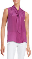 Max Mara Front Tie Pleated Blouse
