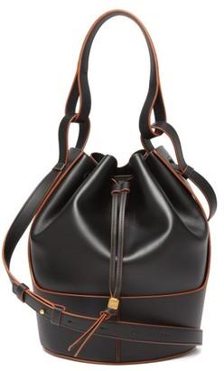 Loewe Balloon Medium Leather Shoulder Bag - Black