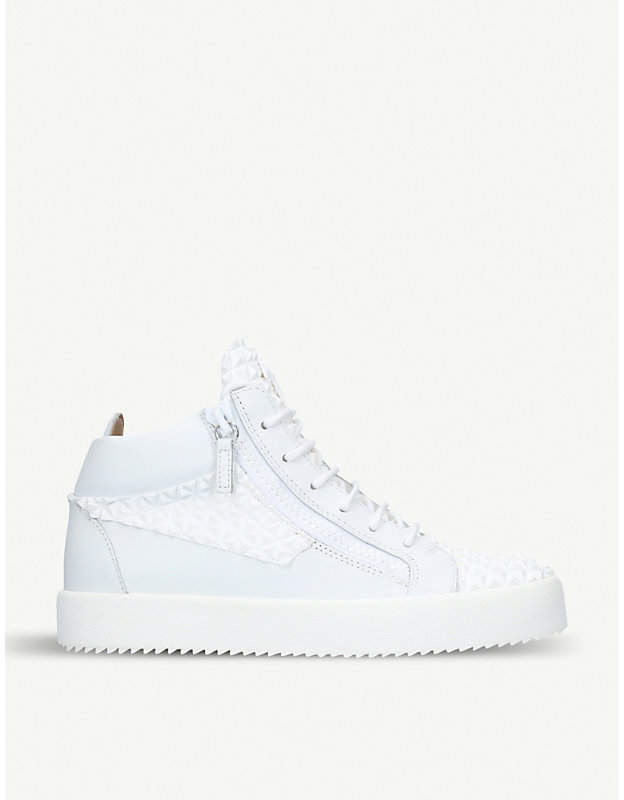 Giuseppe Zanotti Pyramid high-top leather trainers