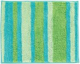 InterDesign Stripz Bath Rug - Blue/Green - 17 in. x 21 in.