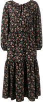 Saint Laurent floral print peasant dress - women - Silk/Cotton - 34