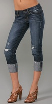 Raw Edge Cropped Jeans
