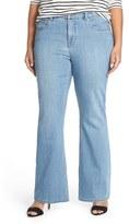 Melissa McCarthy Plus Size Women's Stretch Flare Leg Jeans