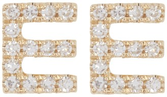 Ron Hami 14K Yellow Gold Diamond Initial Stud Earrings - 0.04 ctw - Multiple Letters Available