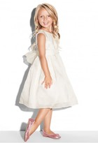 Milly Minis Satin Organza Bow Back Cocktail Dress