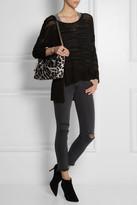 Jimmy Choo Ally leopard-print calf hair shoulder bag