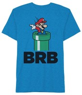 Super Mario Boys' Nintendo Super Mario BRB T-Shirt - Blue
