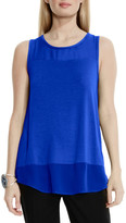 Vince Camuto Mixed Media Tank (Petite)