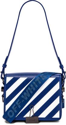 Off-White Off White Diagonal Flap Bag in Blue & White   FWRD
