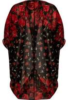 River Island Womens Red floral print longline cardigan