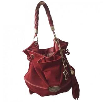 Lancel Brigitte Bardot Burgundy Velvet Handbags