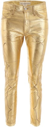 Golden Goose Metallic Cropped Pants