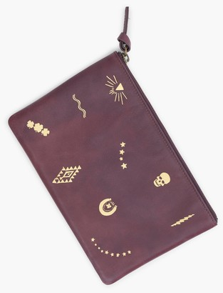 Lucky Brand Motif Leather Pouch