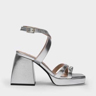 Nodaleto Bulla Siler Sandals In Silver Leather