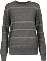 MiH Jeans Falls striped glittered merino wool-blend sweater
