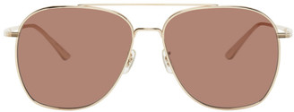 The Row Gold Ellerston Sunglasses