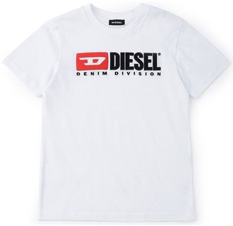 Diesel Boys Short Sleeve Double Logo T-shirt