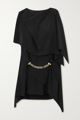 J.W.Anderson One-sleeve Chain-embellished Crepe Blouse - Black
