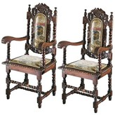 Toscano Charles II Upholstered Dining Chair Design