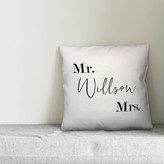 Rolfe Mr. and Mrs. Monochromatic Personalized Outdoor Throw Pillow Winston Porter Customize: Yes