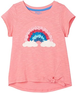 Hatley Magical Rainbow Tie Front Tee (Toddler/Little Kids/Big Kids) (Pink) Girl's Clothing