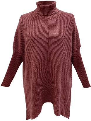 Goodnight Macaroon 'Anastasia' Roll Neck Horizontal Ribbed Long Sweater (5 Colors)