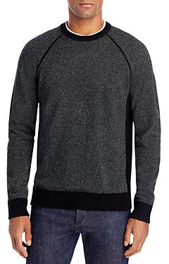Vince Bird's Eye Wool & Cashmere Crewneck Sweater