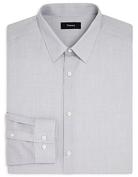 Theory Grid Slim Fit Dress Shirt