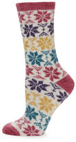 Free People Snowflake Plush Crew Socks