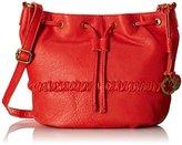 Lucky Brand Carmel Drawstring Cross Body Bag