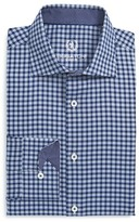 Bugatchi Men's Trim Fit Plaid Dress Shirt