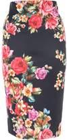 Jane Norman Floral Pencil Skirt