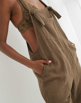 aerie Gauze Knot Overall