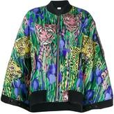 Gucci Feline Garden print bomber jacket