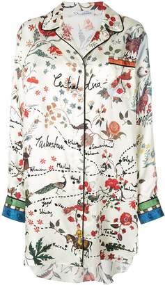 Oscar de la Renta printed shirt dress